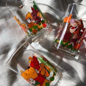 Vintage Winnie the Pooh drinking glasses